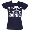 Fame and Fortune Women's I Skull The Goonies T-Shirt (Blue)