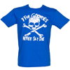 Fame and Fortune Men's Goonies Never Say Die T-Shirt (Blue)