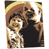 The Goonies Sloth And Chunk Canvas Art Print 80 X 60 cm