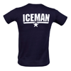 Fame and Fortune Men's Top Gun Iceman T-Shirt (Blue)