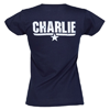 Fame and Fortune Women's Top Gun Charlie T-Shirt (Blue)