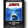 Jaws Cast - Framed Canvas Art Print (16x20